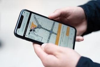 Mappedin blue dot positioning on mobile